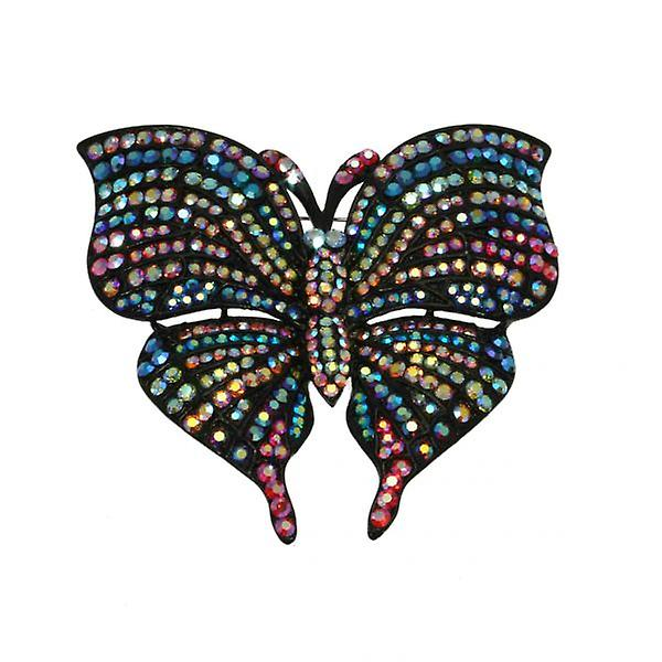 W.A.T Big Swarovski Crystal Butterfly Brooch