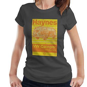 T-shirt Haynes taller Manual Volkswagen Camper 1972 raya Womens
