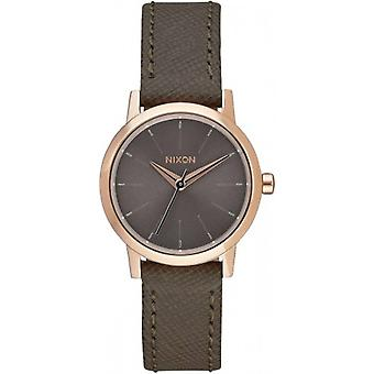 Nixon The Kenzi Leather Watch - Rose Gold/Taupe