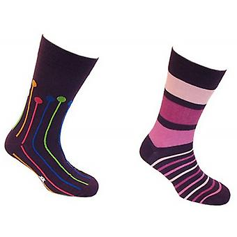 Tyler and Tyler Dropspot and Stripy Sock Set - Purple