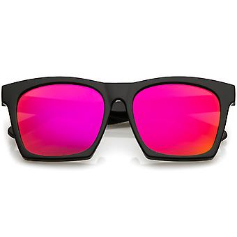 Moderne Hornet Rimmed solbriller Square farge speilet Flat linsen 54mm