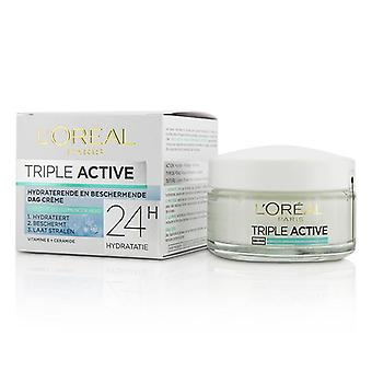 L'oreal Triple Active Multi-Protective Day Cream 24H Hydration - For Normal/ Combination Skin - 50ml/1.7oz