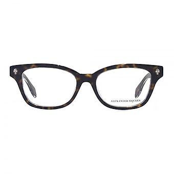 Alexander McQueen Ghost Skull AM0026 Glasses In Havana