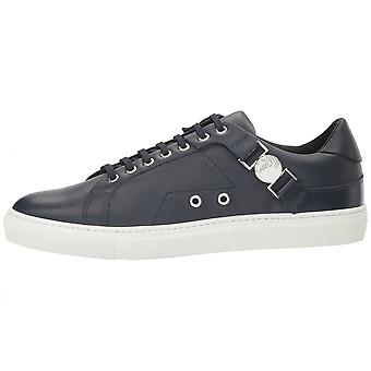 Versace Collection V900597 Leather Round Toe Black Trainer