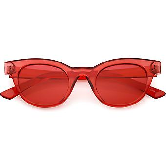 Женщин прозрачный Cat глаз очки рога оправе цвета тонированные круглых линз 47 мм