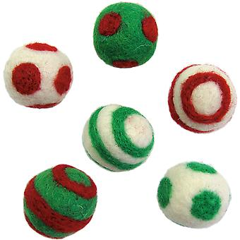 Feltworks Holiday Balls 6 Pkg 72 08251