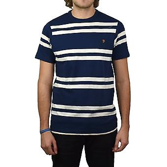 Farah Hewitt Striped Crew-Neck T-Shirt (Yale)