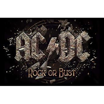 AC/DC Poster Rock Or Bust new Official Textile flag 104 x 65cm