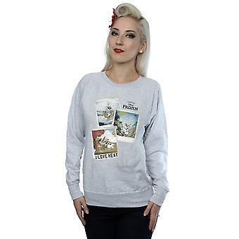 Disney congelados Olaf Polaroid camisola mulher