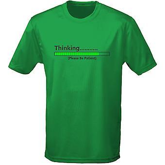 Gelieve te wachten Mens T-Shirt 10 kleuren (S-3XL) denken door swagwear