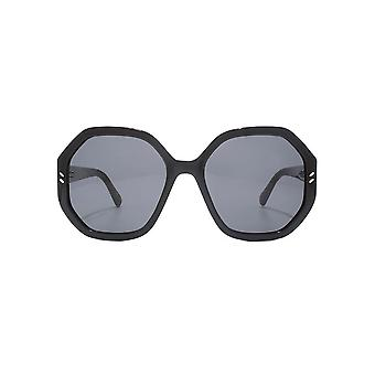 Stella McCartney Oversize Geometric Sunglasses In Black