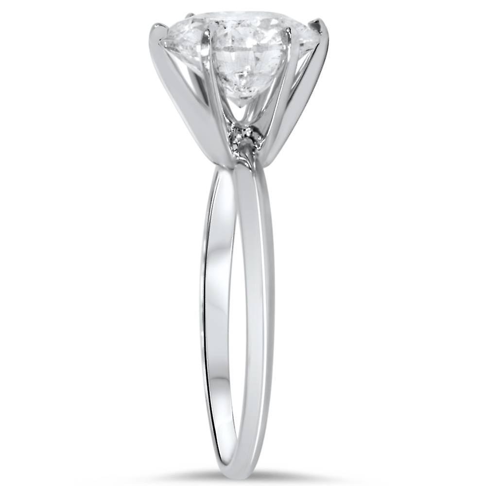 2 1/2ct Round Diamond Solitaire Engagement Ring 14K White Gold