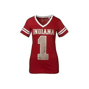 Indiana Hoosiers NCAA Pressefach V-Ausschnitt Jersey T-Shirt