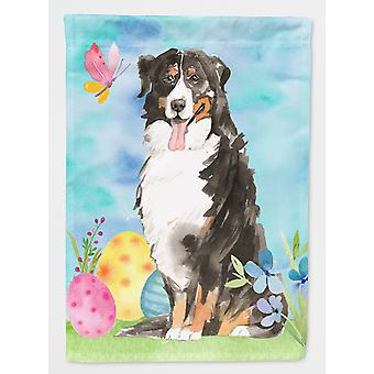 Carolines Treasures  CK1926GF Easter Eggs Bernese Mountain Dog Flag Garden Size