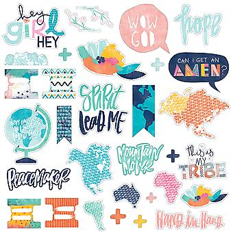 Illustrated Faith All People All Nations Die-Cuts-Ephemera Shapes, Tabs & Words IFAP1846