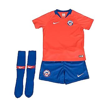 2018-2019 Chile Home Nike Little Boys Mini Kit
