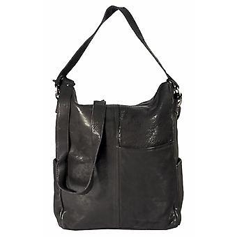 Tavira - large shoulder bag leather bag portrait washed leather Messenger bag