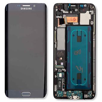 Display LCD komplet sæt touchscreen GH97-17819 B sort til Samsung Galaxy S6 kant plus G928F
