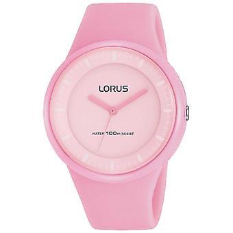 Lorus damer rosa silikon Strap blek rosa urtavla RRX25FX9 Watch
