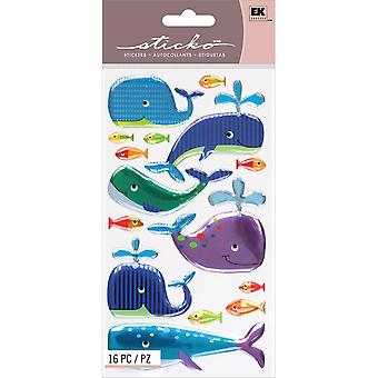 Sticko Stickers-Happy Whales