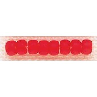 Mill Hill Glass Beads Size 6/0 4mm 5.2g-Frosted Red Red