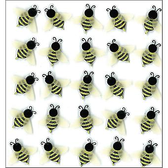 Jolee's Boutique Dimensional Stickers-Bees