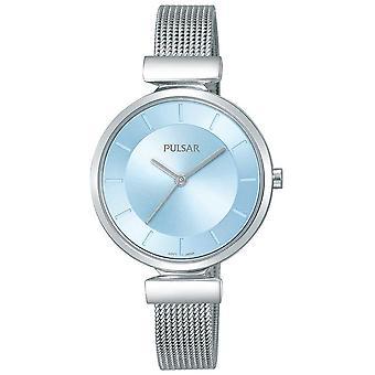 パルサー レディース ステンレス ストラップ ライトブルー ダイヤル PH8411X1 腕時計