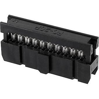 ECON connecter espacement des broches Connecteur Contact: 2,54 mm nombre de broches: 10 no de lignes: 2 1 PC (s) plateau