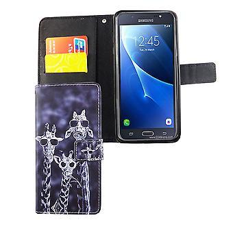 Mobile phone case pochette pour mobile Samsung Galaxy J7 2016 3 girafes