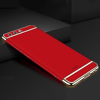 Funda de teléfono celular de Huawei P20 tope 3 en 1 cromo funda roja