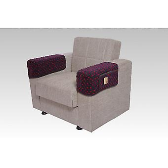 Armrest saver seat saver ANTHRACITE pair 40 x 55 cm 2 pockets