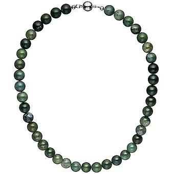 Necklace chain Moss agate 45 cm Moss agate stone necklace gemstone necklace
