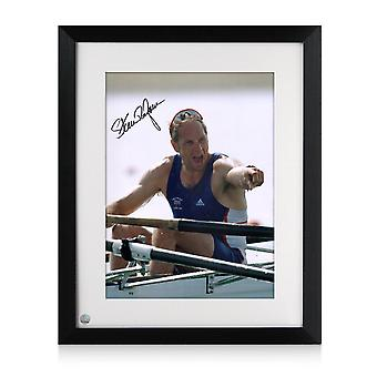 Sir Steve Redgrave Signed And Framed Photo: Five Time Olympic Champion