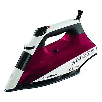 Russell Hobbs 22520 AutoSteam 2400W Pro Even Soleplate Steam Iron- Maroon