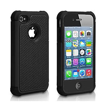 もの認定® アップルの iPhone 6 - ハイブリッド鎧ケース カバー Ca シリコーン TPU ケース黒