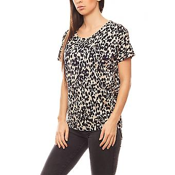InWear loosely falling ladies T-Shirt in the animal print black