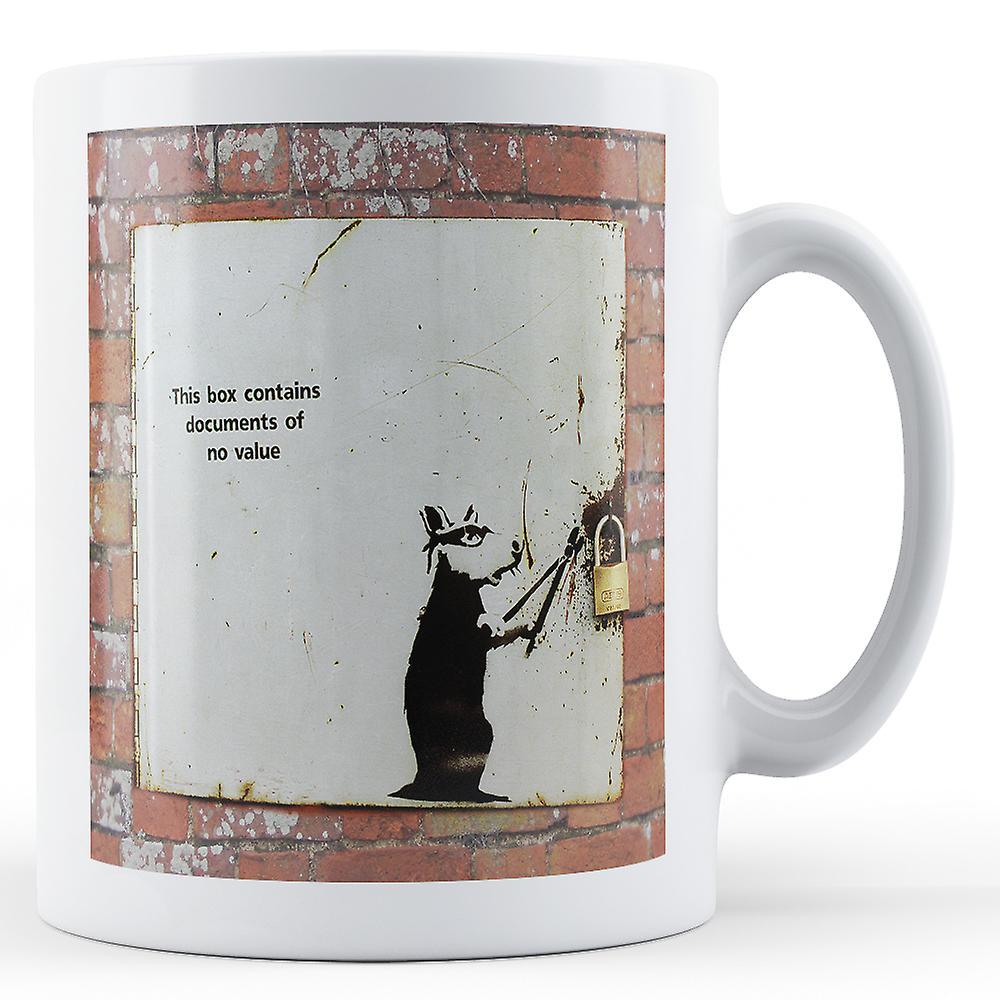 Rat Doté Mug Document Box De Imprimé nbsp; BanksyOeuvrenbsp;voleur eWEIDb9HY2