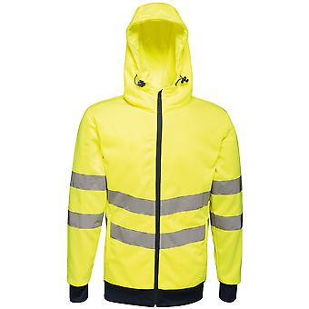 Regatta Mens Hi Vis Pro Full Zip Workwear Hooded Jacket