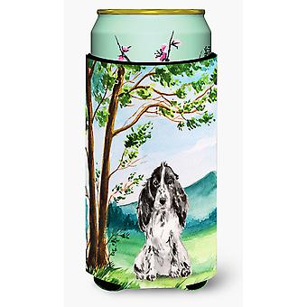 Sotto l'albero nero Parti Cocker Spaniel Tall Boy Beverage isolante Hugger