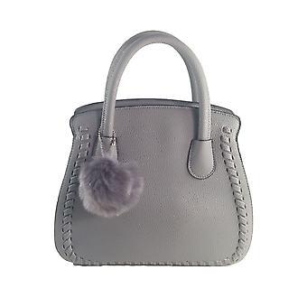 Ladies Designer Long Handle Tote Shoulder Grey Handbag Leather Bag SN62