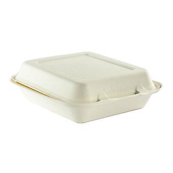 Vegware kompostierbar Bagasse Take-away-Boxen 9x8in