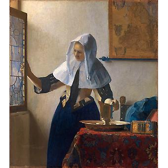 Young Woman with a Water Jug wer,Johannes Vermeer,45.7x40.6cm