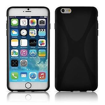 Cadorabo Hülle für Apple iPhone 6 PLUS / iPhone 6S PLUS - Handyhülle aus flexiblem TPU Silikon im X-Line Design - Silikonhülle Schutzhülle Soft Back Cover Case Bumper