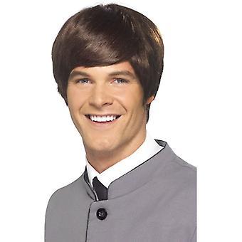 Corto pelucas recta 60 hombre Mod peluca años 60 disfraces accesorios