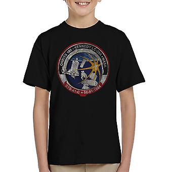 NASA STS 41 C Challenger Mission Badge Distressed Kid's T-Shirt