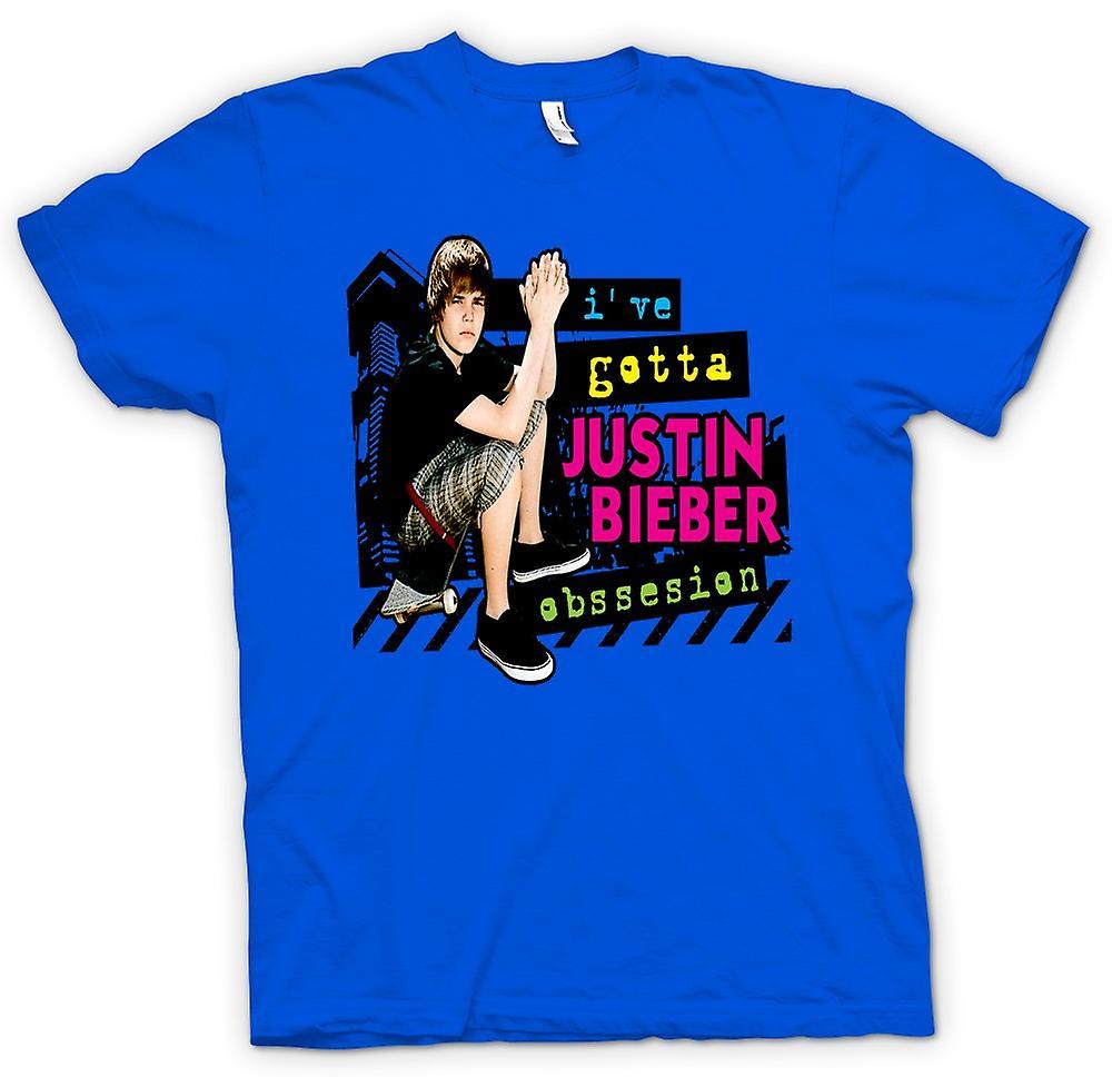 Mens t-skjorte-Justin Bieber besettelse