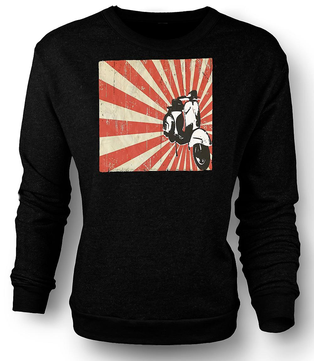 Mens Sweatshirt Vespa Cool Design - Pop Art