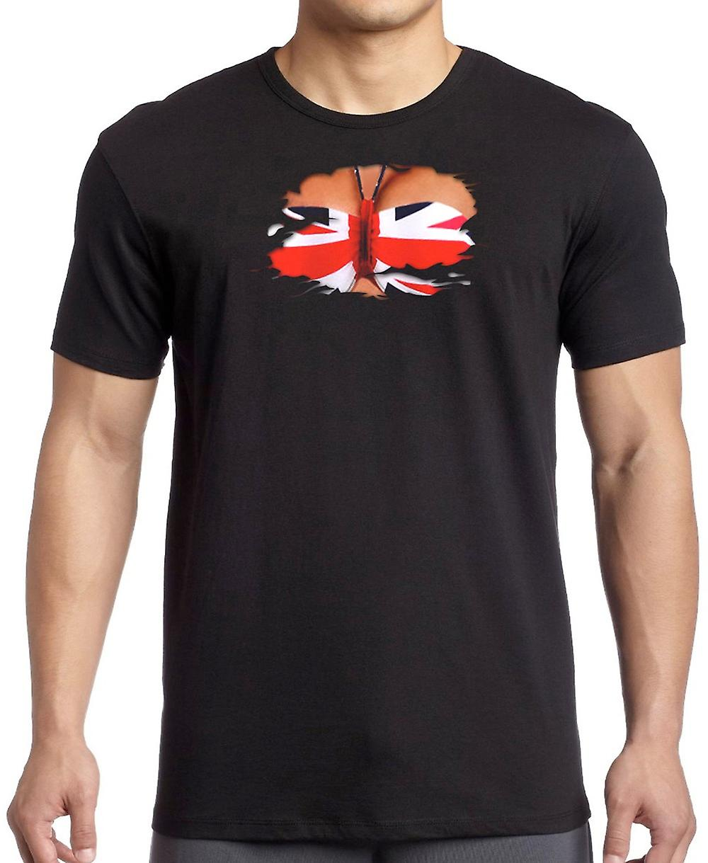 UK Union Jack Bikini geript Effect T Shirt