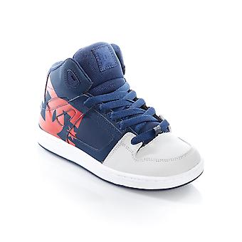 DC Navy-Grey Pure SP Kids Hi Top Shoe