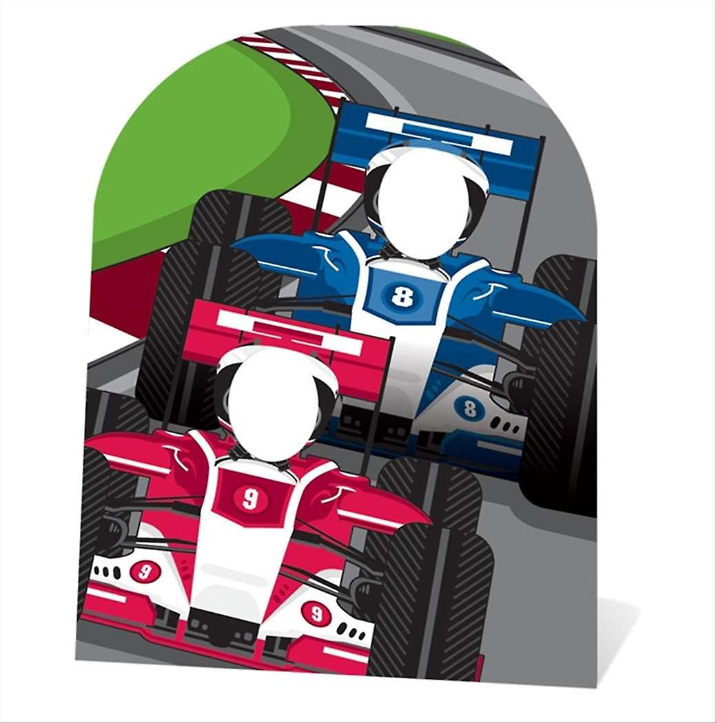 Racing Cars Stand In Child size Cardboard Cutout / Standee